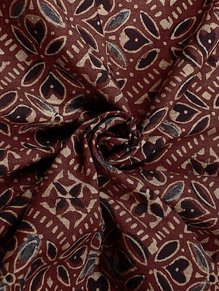 Red Ajrakh Printed Cotton Fabric