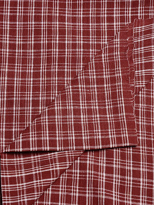 Maroon Handwoven Malkha Fabric