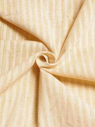 Beige Handwoven Malkha Fabric