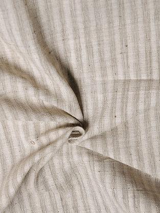 Black-Off White Handwoven Malkha Fabric