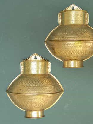 Handcrafted Brass Matli Hanging (L:18cm, W:17cm, H:8cm)