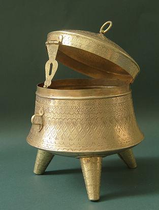Dadi Ka Dabba Brown Handmade Brass Box