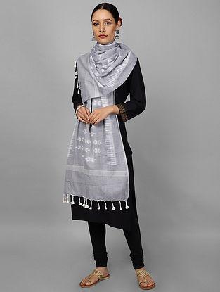 Grey-White Ikat Cotton Stole