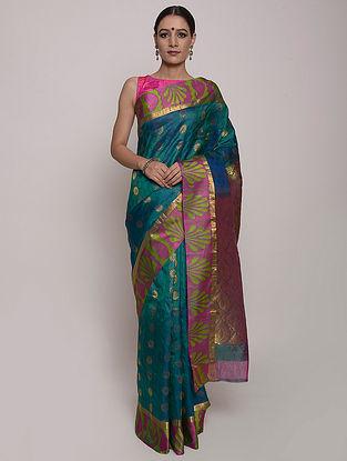 Blue Handwoven Kanjivaram Silk Saree