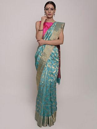 Blue Handwoven Chanderi Silk Saree