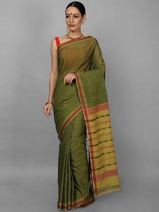 Green Handwoven Cotton Saree