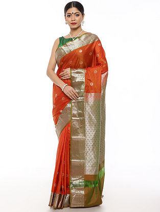 Red-Green Handwoven Kanjivaram Silk Saree