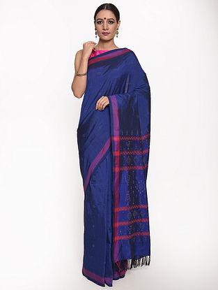 Royal Blue Handwoven Silk Cotton Saree