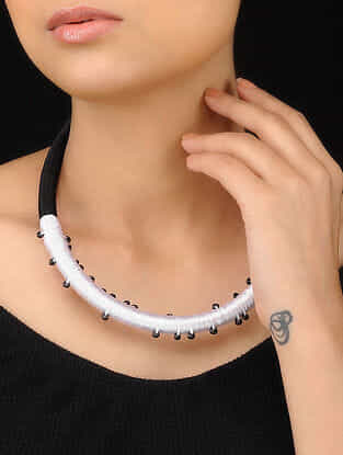 White-Black Handcrafted Necklace