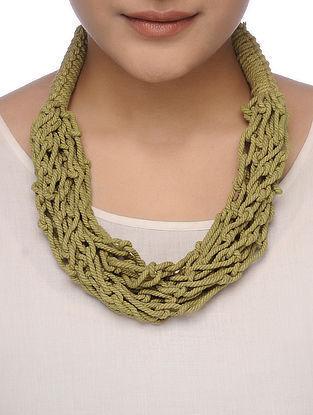 Green Cotton Thread Necklace