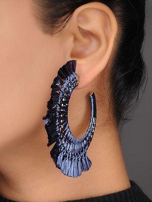 Blue Rafia Earrings