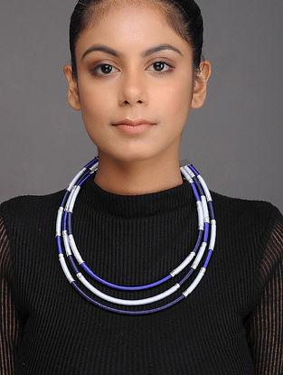 Blue Silver Tone Necklace