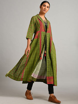Green Printed Cotton Overlay