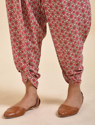 Red Digital Printed Cotton Modal Dhoti Salwar