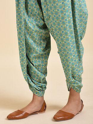 Cyan Blue Digital Printed Cotton Modal Dhoti Salwar