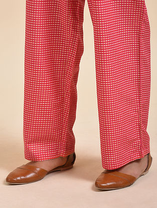 Red Digital Printed Cotton Modal Pyjamas