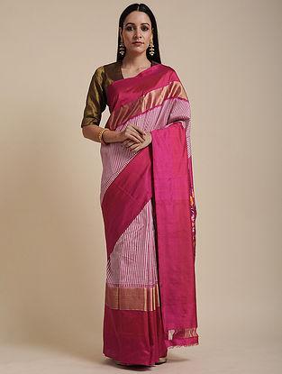 Pink Handwoven Pochampally Silk Saree
