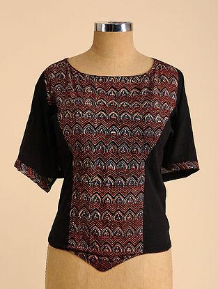 Black-Rust-Blue Semi Stitched Corset Cotton Blouse