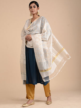 Ivory Chanderi Dupatta with Zari