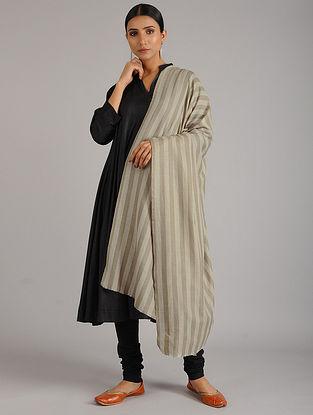 Ivory-Grey Pashmina Shawl