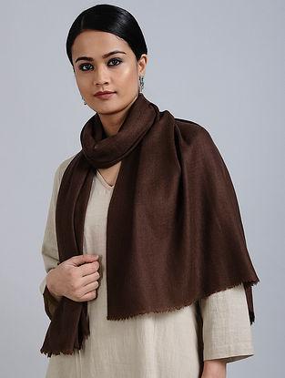 Maroon Merino Wool Silk Stole