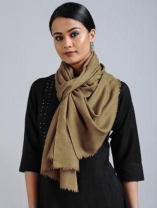 Beige Merino Wool Silk Stole