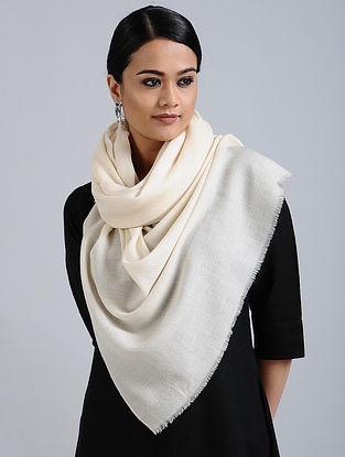 Ivory Merino Wool Silk Stole