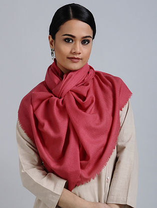 Pink Merino Wool Silk Stole
