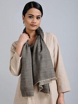 Grey Merino Wool Silk Stole