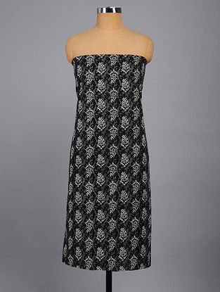 Grey-Black Printed Kurta Fabric