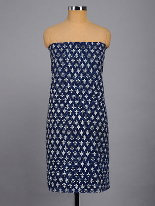 Blue-White Printed Kurta Fabric