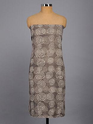 Taupe-Beige Printed Kurta Fabric