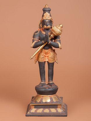 Brass Hanuman Statue 6in x 6.1in x 16.1in