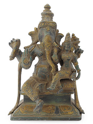 Brass Home Accent with Lord Ganesha and Sidhi Design