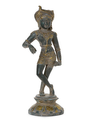 Brass Home Accent with Lord Shiva Design