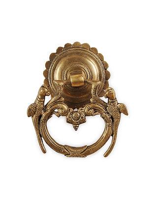 Brass Door Knocker with Parrot Design (5.2in x 5in)