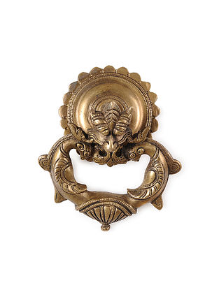 Brass Door Knocker with Bird Design (5.2in x 5.2in)