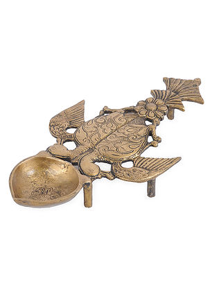 Brass Decorative Spoon (L - 11.1in, W - 5.5in, H - 2.5in)