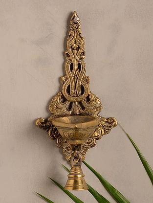 Brass Wall Deepak with Bell (9in x 4in)