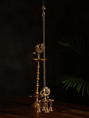 Brass Oil Hanging Lamp (23in x 3.3in)