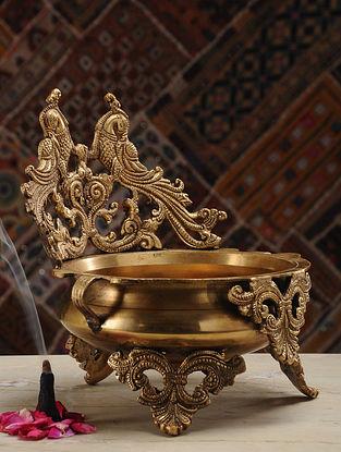 Brass Urli (L- 8in, W- 9in, H- 9.5in)