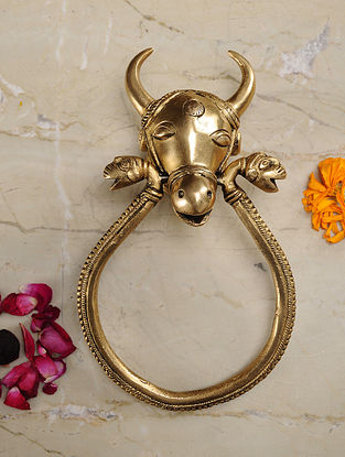 Nandi Brass Door Knocker (8.6in x 5in)