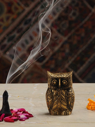 Owl Brass Tabletop Accent (L- 1.2in, W- 1.7in, H- 2.6in)