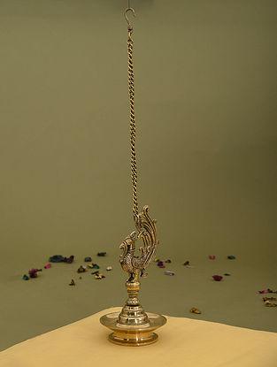 Brass Bird Hanging Lamp (L - 5.5in, W - 5.5in, H - 11in)