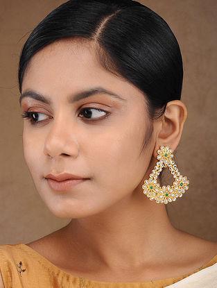 Gold Tone Kundan Inspired Earrings