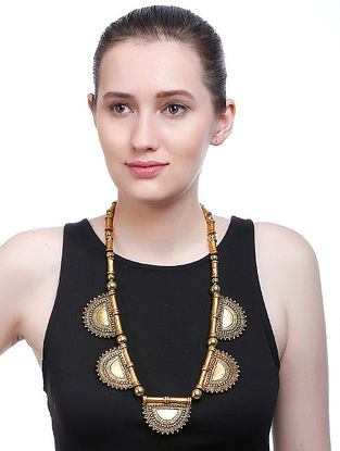 Classic Gold Tone Handcrafted Necklace