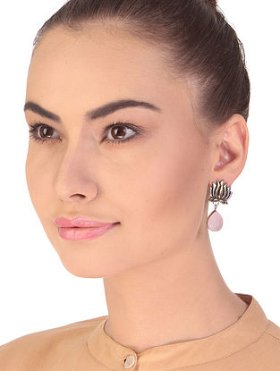 Pink Dual Tone Handcrafted Earrings