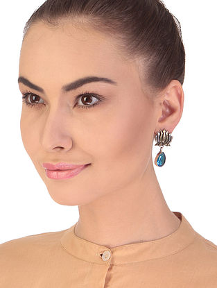 Blue Dual Tone Handcrafted Earrings