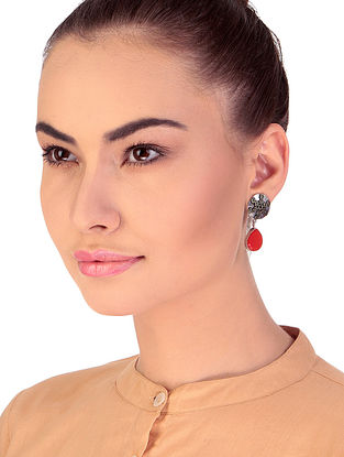 Red Dual Tone Handcrafted Earrings