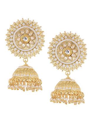 Classic Gold Tone Kundan Inspired Jhumkis